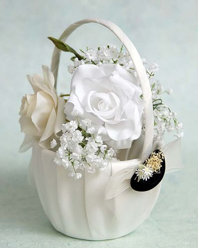 Cowboy Hat Western Wedding Flowergirl Basket 